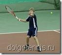 Большой теннис в Долгопрудном. Дима Булыгин выполняет удар справа.