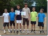 Теннис в Долгопрудном. Никите Иванченко и Мише Дорофееву вручены книжки разрядников и присвоены первые спортивные разряды по теннису. 11 июня 2011 года