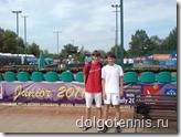 Теннис в Долгопрудном. Никита Иванченко и Миша Дорфеев. Июль 2011 г.