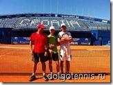 Центральный корт теннисного стадиона Stella Maris. Учебно-тренировочные сборы в Хорватии, август 2011