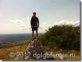 На вершине горы Жбевница (Хорватия). Высота 1014 м. Июль 2012 г.