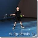 Теннис в Долгопрудном. Никита Иванченко на соревнованиях в спортзале ДЮСШ  11 мая 2009 г.