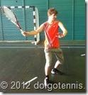 Первенство МФТИ по теннису среди студентов. Третье место занял Семён Батанов (ФАКИ). Декабрь 2012 г.