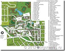 Lindenwood University Campus Map