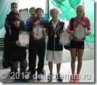 Участники турнира по большому теннису в Долгопрудном, награждённые грамотами.