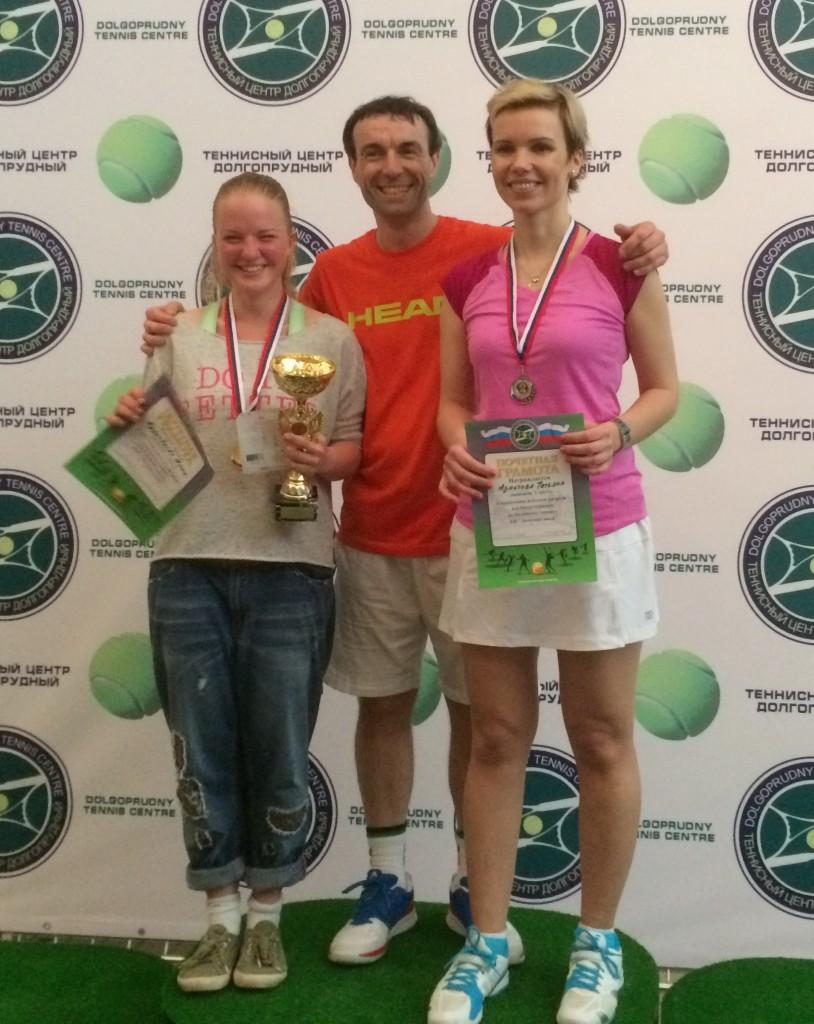 Аня Кудрявцева и Татьяна Азметова - первое и второе место на турнире в ТЦ